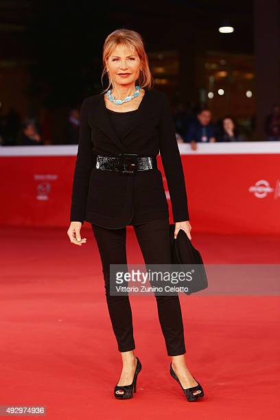 Lilli Gruber walks the red carpet for 'Truth' during the 10th Rome Film Fest at Auditorium Parco Della Musica on October 16 2015 in Rome Italy