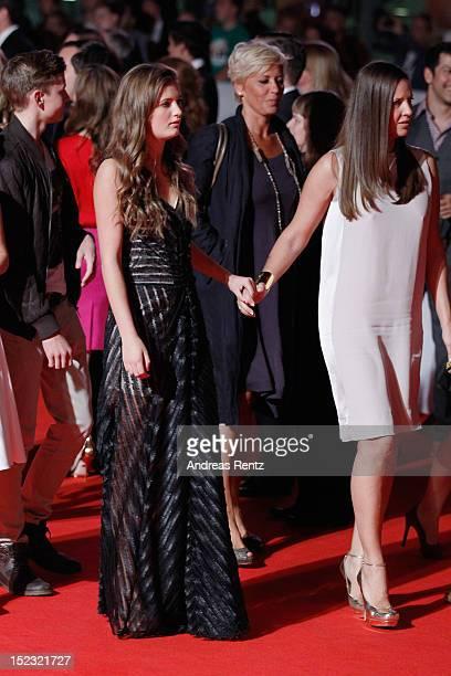 Lilli Schweiger and mom Dana Schweiger attend the 'Schutzengel' Premiere at CineStar on September 18 2012 in Berlin Germany