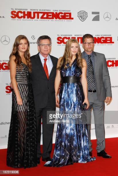 Lilli Schweiger German Defense Minister Thomas de Maiziere Luna Schweiger and Til Schweiger and attend the 'Schutzengel' Premiere at CineStar on...