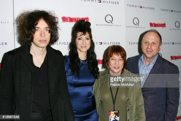 Lillian Berlin Floria Sigismondi and attend New York Premiere Screening of 'THE RUNAWAYS' at Landmark Sunshine Cinema on March 17 2010 in New York...