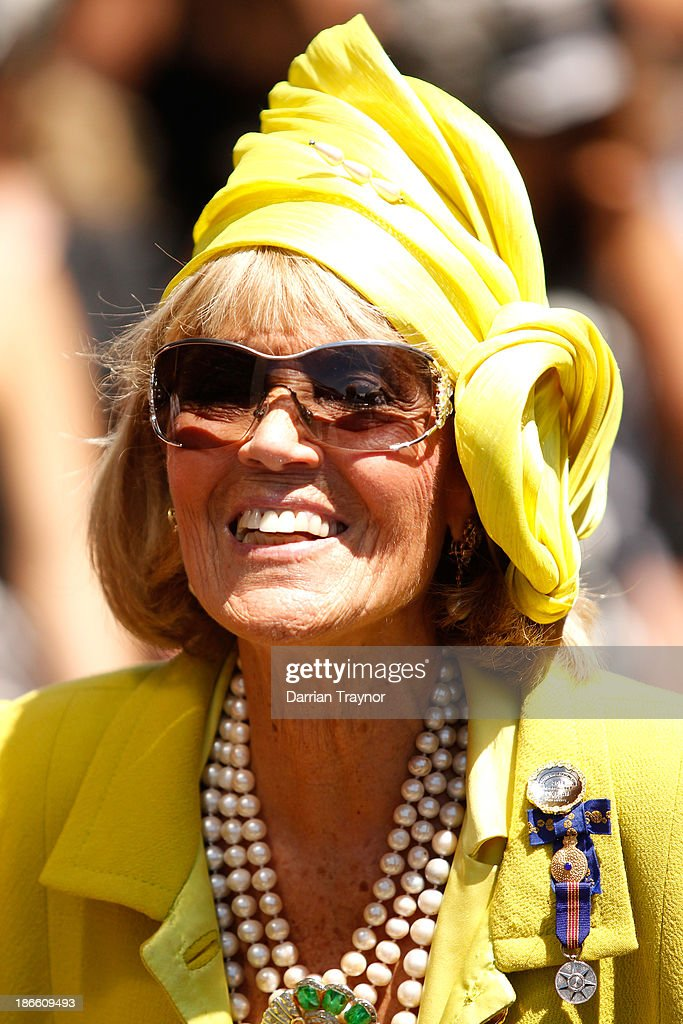 <a gi-track='captionPersonalityLinkClicked' href=/galleries/search?phrase=Lillian+Frank&family=editorial&specificpeople=211239 ng-click='$event.stopPropagation()'>Lillian Frank</a> is seen on Derby Day at Flemington Racecourse on November 2, 2013 in Melbourne, Australia.