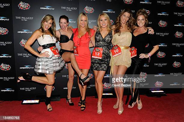 Lillian Garcia Suzy Favor Hamilton Barbara Moore Alana Curry Amber Smith and Sandra Taylor attend the Rock 'n' Roll Las Vegas Stiletto Dash at The...