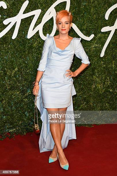Lilly Allen attends the British Fashion Awards at London Coliseum on December 1 2014 in London England