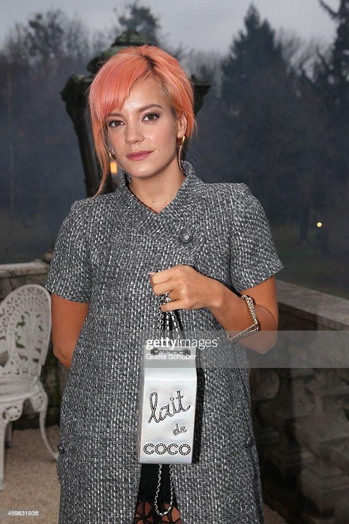 Lilly Allen during the Chanel Metiers d'Art Collection 2014/15 Paris-Salzburg on December 2, 2014 in Salzburg, Austria.