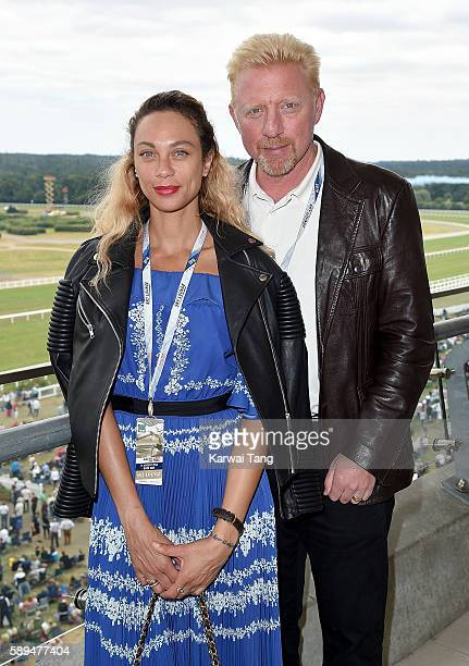 Lilly and Boris Becker attend the Red Bull Air Race World Championships at Ascot Racecourse on August 14 2016 in Ascot England