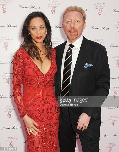 Lilly Becker and Boris Becker attend Gabrielle's Gala 2013 supported by Lorraine Schwartz at Battersea Power Station on May 2 2013 in London England