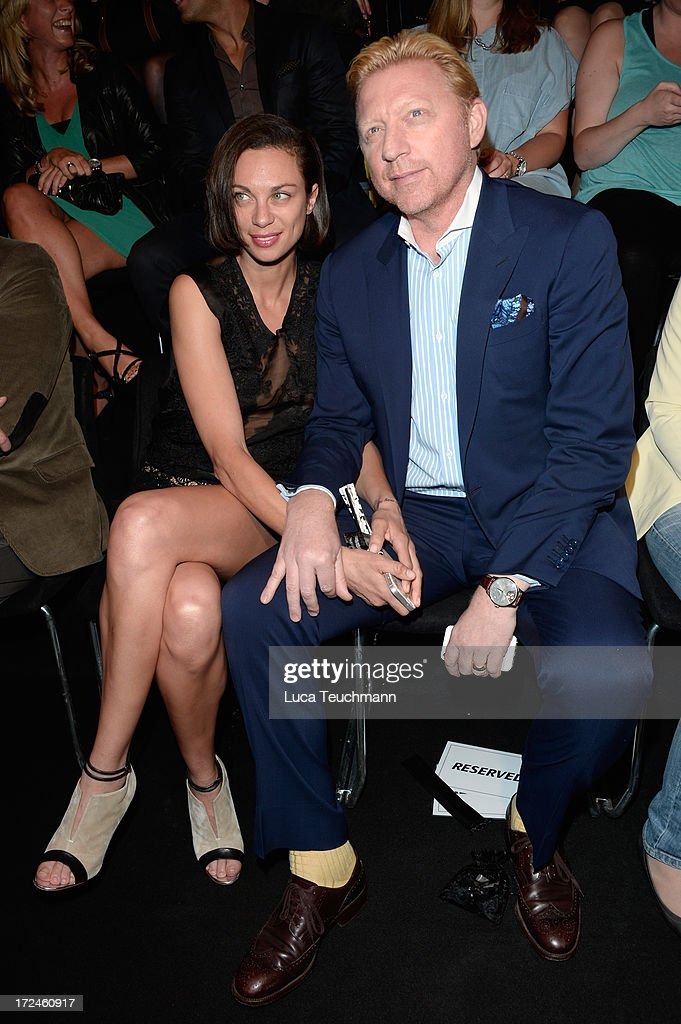 Lilly Becker and Boris Becker attend Riani Show during Mercedes-Benz Fashion Week Spring/Summer 2014 at Brandenburg Gate on July 2, 2013 in Berlin, Germany.