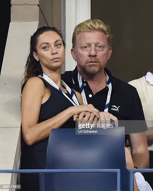 Lilly Becker and Boris Becker attend the 2014 US Open at USTA Billie Jean King National Tennis Center on August 25 2014 in New York City