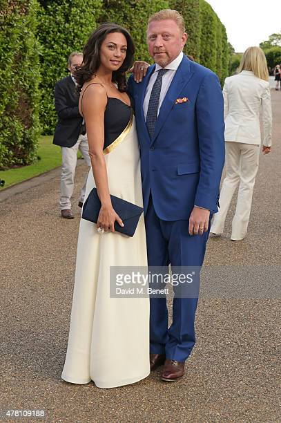 Lilly Becker and Boris Becker attend The Ralph Lauren Vogue Wimbledon Summer Cocktail Party hosted by Alexandra Shulman and Boris Becker at The...