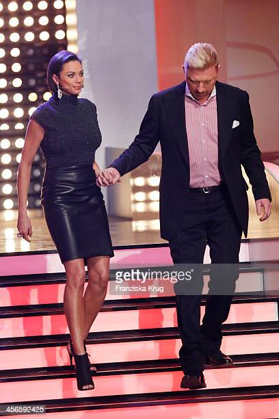 Lilly Becker and Boris Becker attend Wetten dass from Augsburg on December 14 2013 in Augsburg Germany