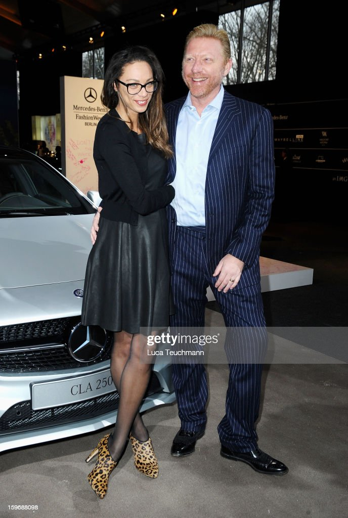 Lilly Becker and Boris Becker attend Zoe Ona Autumn/Winter 2013/14 fashion show during Mercedes-Benz Fashion Week Berlin at Brandenburg Gate on January 18, 2013 in Berlin, Germany.