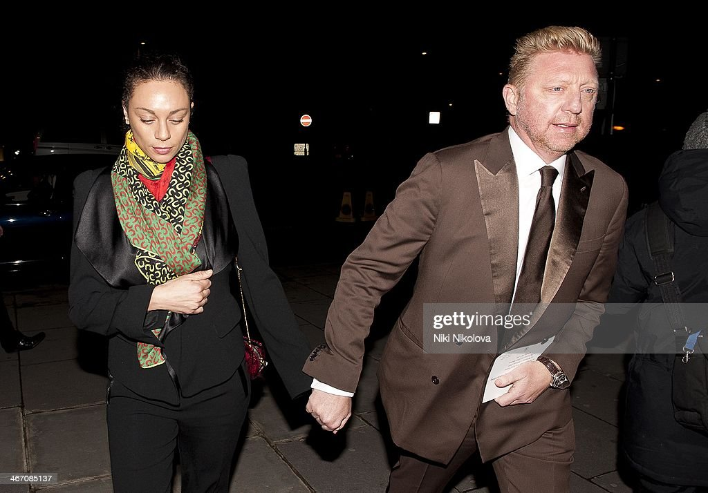 Lilly Becker and Boris Becker is seen arriving at the V&A Museum, Knightsbridge on February 5, 2014 in London, England.