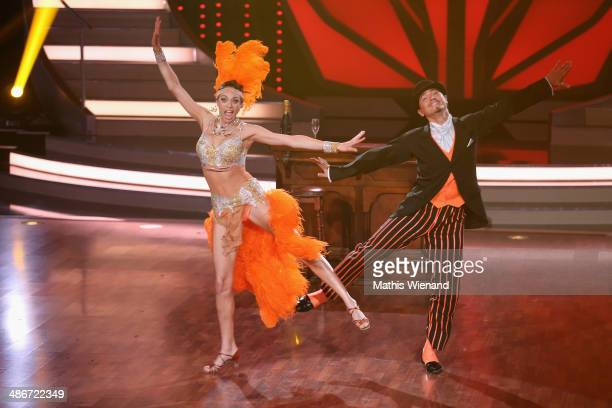 Lilly Becker and Erich Klann attend the 4th Show of 'Let`s Dance' on April 25 2014 in Cologne Germany