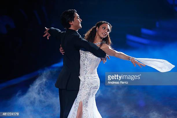 Lilly Becker and Erich Klann perform on stage during the 1st Show of 'Let's Dance' on RTL at Coloneum on March 28 2014 in Cologne Germany