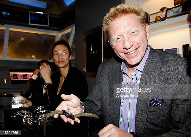 Lilly Becker and former tennis player Boris Becker visit the IWC Schaffhausen booth during the 22nd SIHH High Jewellery Fair at the Palexpo...