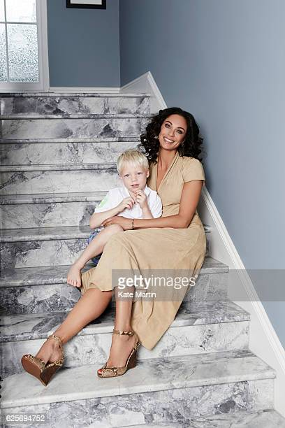 Lilly Becker and her son Amadeus are photographed at home for Hello magazine on June 15 2015 in London England