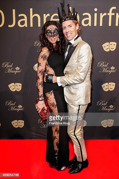 Lilly Becker and Jens Hilbert attend the Hairfree Celebrates 10 Year Anniversary with Bal Masque on November 15 2014 in Darmstadt Germany