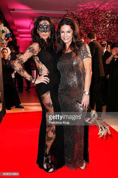 Lilly Becker and Mariella Ahrens attend the Hairfree Celebrates 10 Year Anniversary with Bal Masque on November 15 2014 in Darmstadt Germany