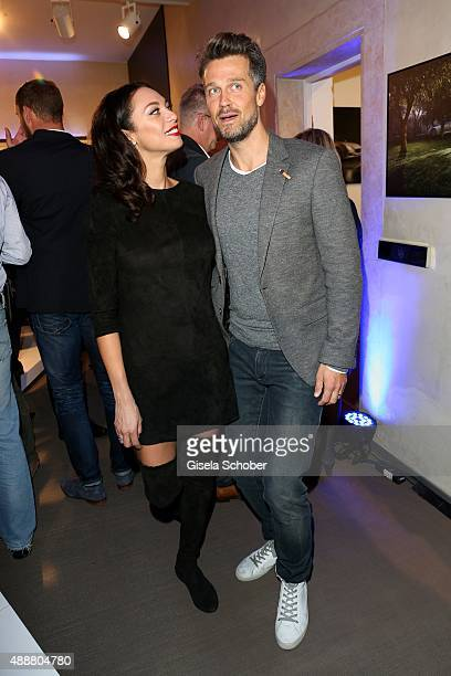 Lilly Becker and Wayne Carpendale during the Maserati City Showroom grand opening on September 17 2015 in Munich Germany
