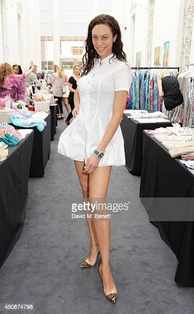 Lilly Becker attends a summer sale at Grace Belgravia in aid of Silent No More the campaign raising money for the Gynaecological Cancer Fund on June...