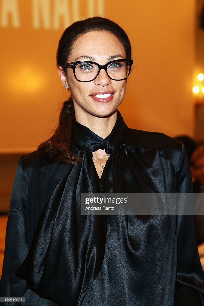 Lilly Becker attends at Sava Nald Autumn/Winter 2013/14 fashion show during Mercedes-Benz Fashion Week Berlin at Hotel Adlon Kempinski on January 17, 2013 in Berlin, Germany.