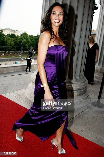 Lilly Becker attends the amfAR Gala Vienna 2010 as part of the Life Ball 2010 at Parliament Of Austria on July 17 2010 in Vienna Austria