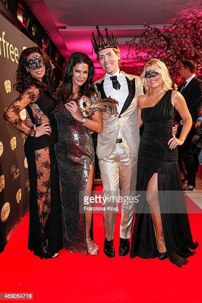 Lilly Becker Mariella Ahrens Jens Hilbert and Jennifer Knaeble attend the Hairfree Celebrates 10 Year Anniversary with Bal Masque on November 15 2014...
