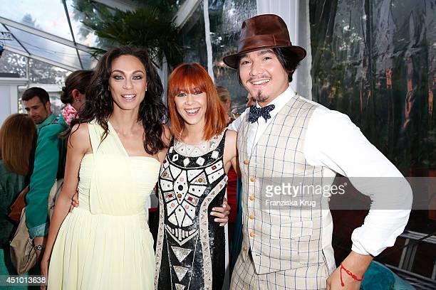 Lilly Becker Oana Andreea Nechiti and Erich Klann attend the Raffaello Summer Day 2014 on June 21 2014 in Berlin Germany