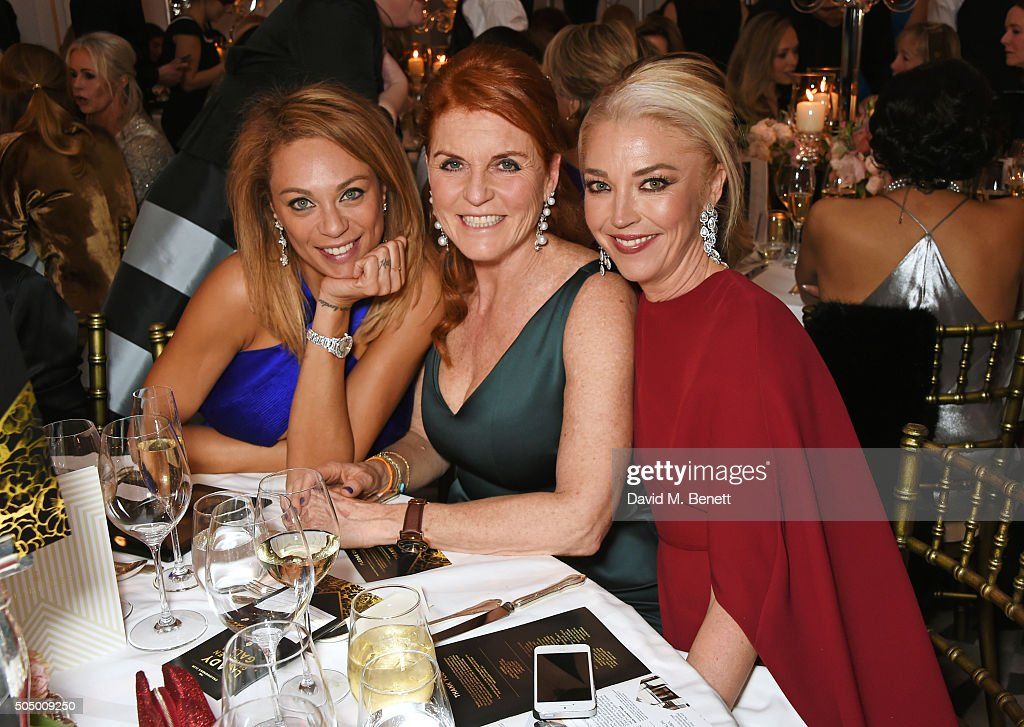 Lilly Becker, Sarah Ferguson, Duchess of York and Tamara Beckwith attend The Lady Garden Gala hosted by Chopard in aid of Silent No More Gynaecological Cancer Fund and Cancer Research UK at Claridge's Hotel on January 14, 2016 in London, England.