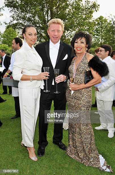 Lilly Kerssenberg Boris Becker and Dame Shirley Bassey attend The 12th Annual White Tie and Tiara Ball to Benefit Elton John AIDS Foundation in...