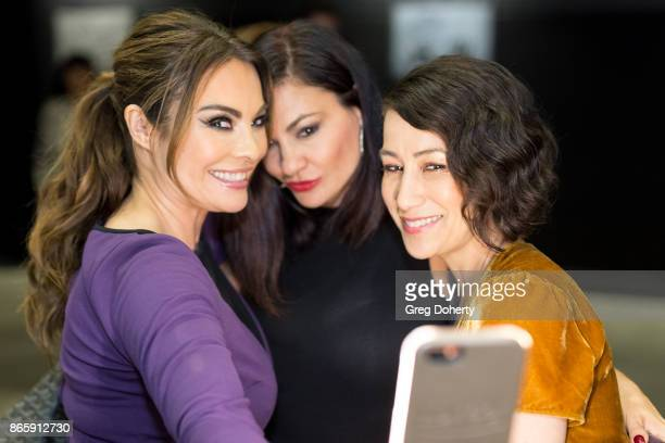 Lilly Melgar Lorena Linares and Pam Riddle take a selfie as they attend the Cast Premiere Screening Of Lany Entertainment's 'The Bay' Season 3 at TCL...