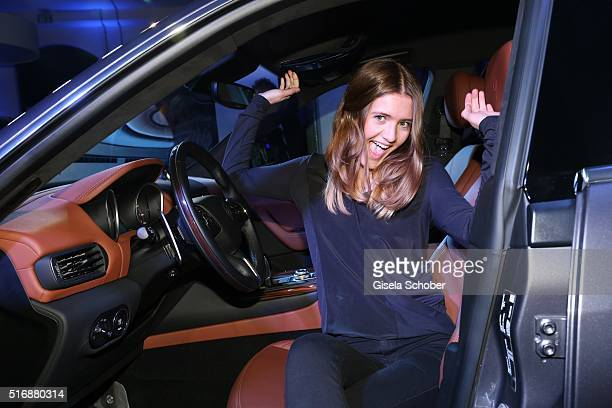 Lilly Schweiger daughter of Til and Dana Schweiger during the Maserati 'Levante' Launch event on March 21 2016 in Frankfurt am Main Germany