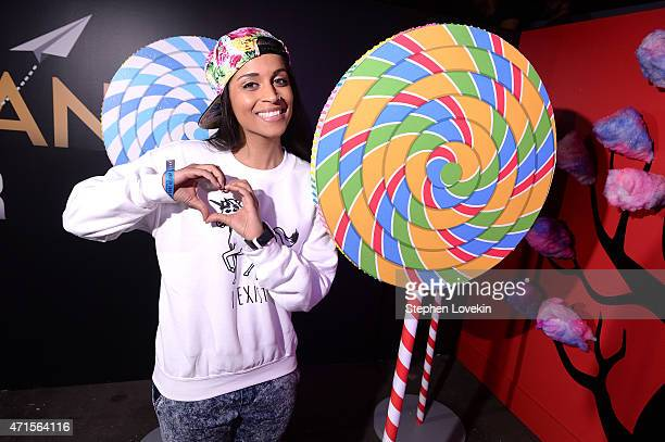 Lilly Singh at #YTMeetup at Skylight at Moynihan Station on April 29 2015 in New York City