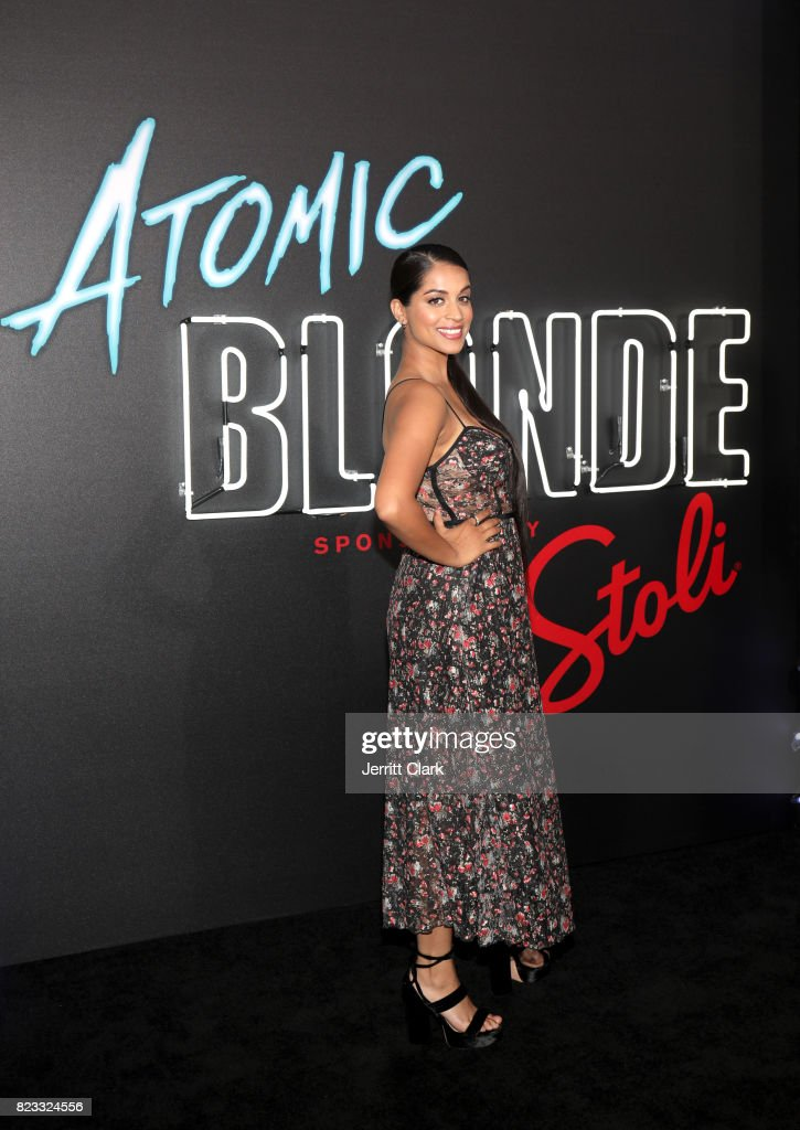 Lilly Singh attends the American premiere of Atomic Blonde, starring Oscar award-winning actress Charlize Theron, at The Theatre At The Ace Hotel on July 24 in Los Angeles, California. Stoli Vodka is the vodka of Atomic Blonde, in theaters July 28.