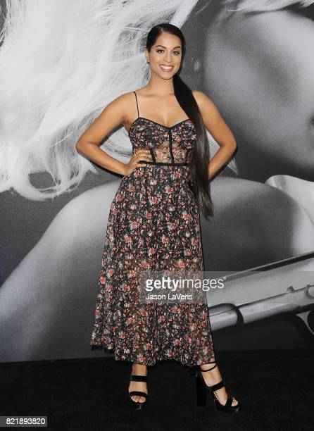 Lilly Singh attends the premiere of 'Atomic Blonde' at The Theatre at Ace Hotel on July 24 2017 in Los Angeles California