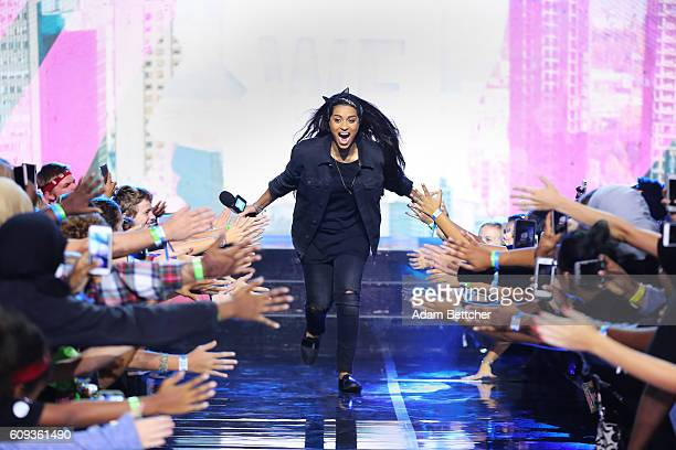 Lilly Singh on stage during WE Day Minnesota at Xcel Energy Center on September 20 2016 in St Paul Minnesota