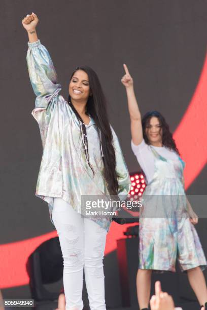Lilly Singh performs at We Day Canada at Parliament Hill on July 2 2017 in Ottawa Canada