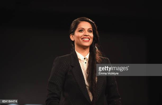 Lilly Singh speaks onstage during The 2017 MAKERS Conference Day 2 at Terranea Resort on February 7 2017 in Rancho Palos Verdes California