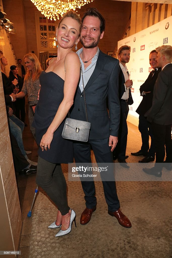 Lilly zu Sayn-Wittgenstein and her boyfriend Stephane Gerschel during the 'Berlin Opening Night of GALA & UFA Fiction' at Das Stue Hotel on February 11, 2016 in Berlin, Germany.