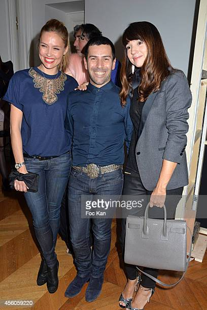 Lilou Fogli Alexis Mabille and Delphine McCarty attend the Alexis Mabille show as part of the Paris Fashion Week Womenswear Spring/Summer 2015 on...