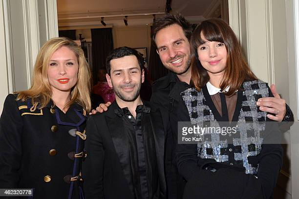 Lilou Fogli AlexisMabille Delphine Mc Carty and Christophe Michalak attend The Alexis Mabille show as part of Paris Fashion Week HauteCouture...