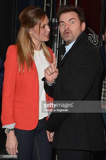 Lilou Fogli and Clovis Cornillac attend 'Radiostars' premiere at Cinema UGC Normandie on April 2 2012 in Paris France