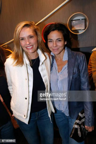 Lilou Fogli and Sandra Zeitoun attend Reem Kherici signs her book 'Diva' at the Barbara Rihl Boutique on November 8 2017 in Paris France