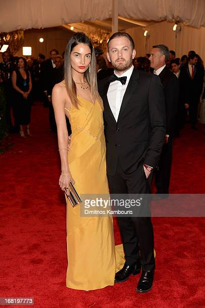 Lily Aldridge and Caleb Followill attend the Costume Institute Gala for the 'PUNK Chaos to Couture' exhibition at the Metropolitan Museum of Art on...
