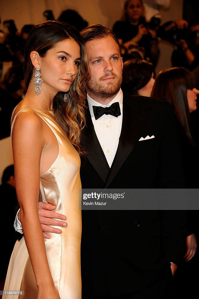 Lily Aldridge and Caleb Followill attends the 'Alexander McQueen: Savage Beauty' Costume Institute Gala at The Metropolitan Museum of Art on May 2, 2011 in New York City.