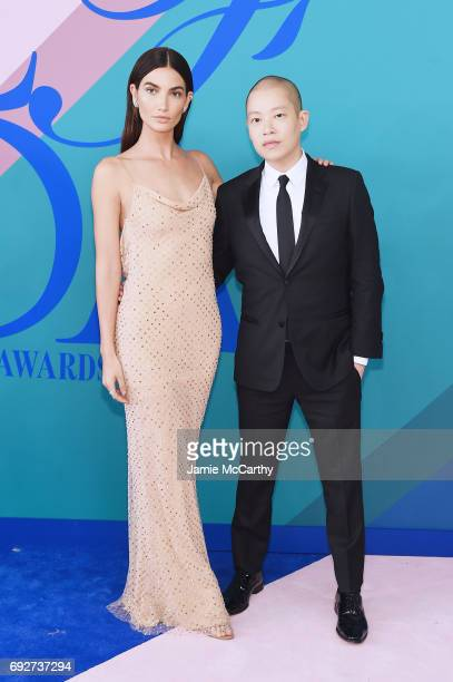 Lily Aldridge and Jason Wu attend the 2017 CFDA Fashion Awards at Hammerstein Ballroom on June 5 2017 in New York City