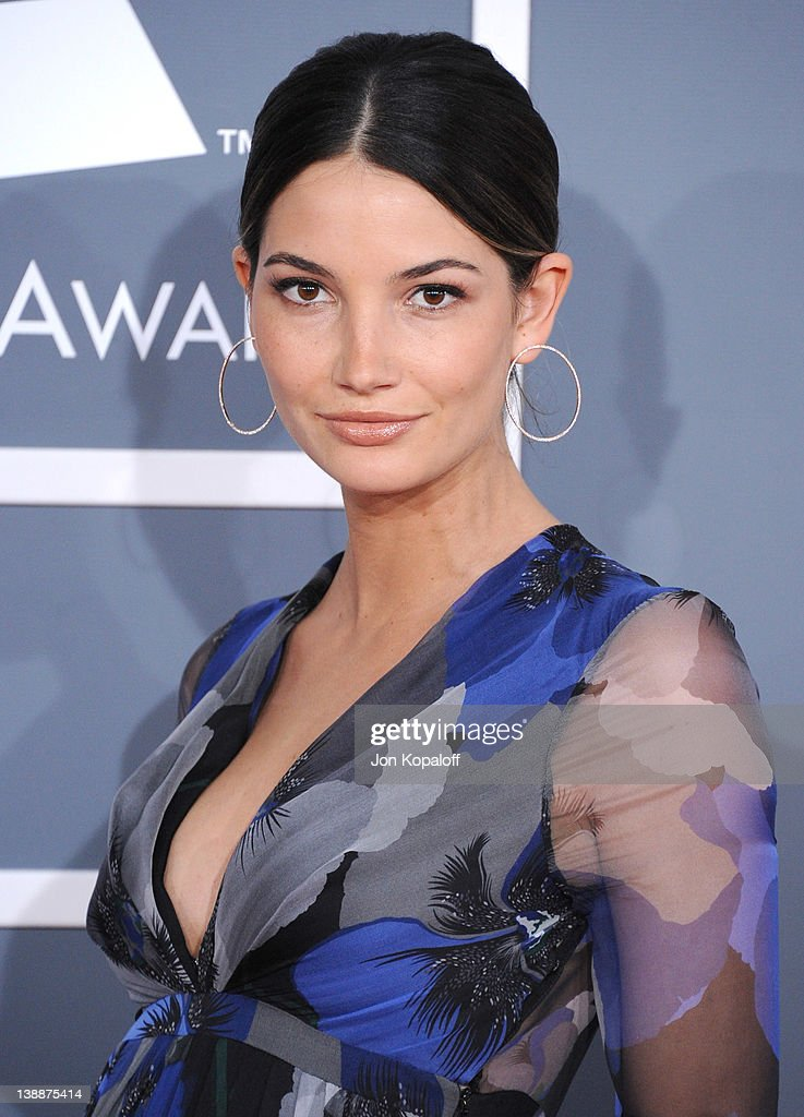 Lily Aldridge arrives at 54th Annual GRAMMY Awards held the at Staples Center on February 12, 2012 in Los Angeles, California.