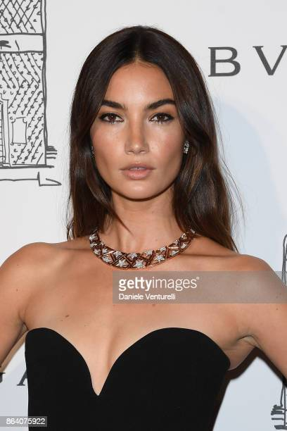 Lily Aldridge attends a party to celebrate the Bvlgari Flagship Store Reopening on October 20 2017 in New York City