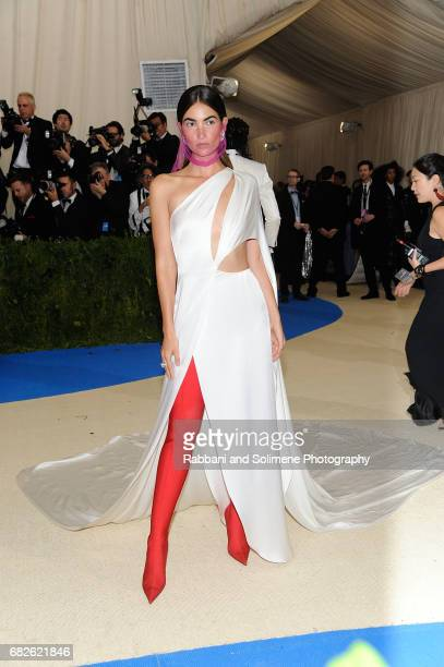 Lily Aldridge attends 'Rei Kawakubo/Comme des Garcons Art Of The InBetween' Costume Institute Gala Arrivals at Metropolitan Museum of Art on May 1...