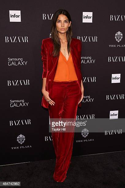 Lily Aldridge attends the 2014 Harper's Bazaar ICONS Celebration at The Plaza Hotel on September 5 2014 in New York City